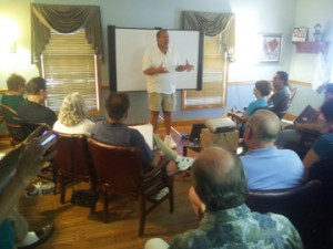 "Chuck Piola, nationally known as the ""King of Cold Calling,"" training American Majority Action volunteers in Pennsylvania"