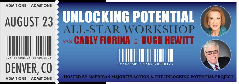 Admit-One: Carly Fiorinia & Hugh Hewitt
